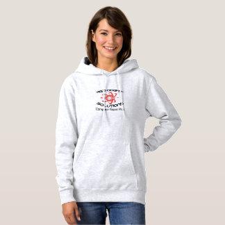 A camisa encapuçado básica das mulheres