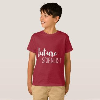 A camisa escura do miúdo futuro do cientista