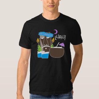 A camisa escura dos homens de Luau Camiseta