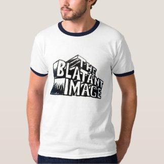 A camisa evidente da campainha do logotipo da