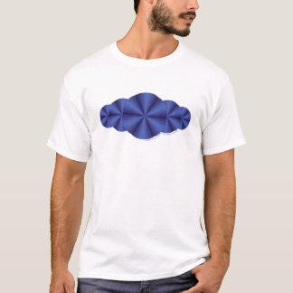A camisa leve dos homens azuis da ilusão óptica