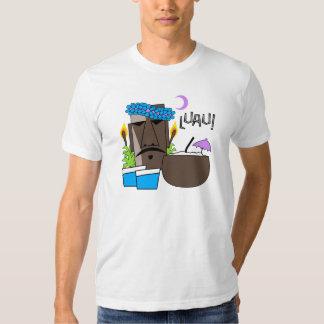 A camisa leve dos homens de Luau Tshirt