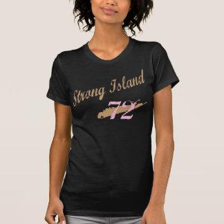 A camisa mulheres bege/cor-de-rosa da ilha forte t-shirt