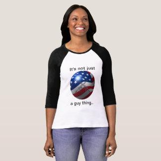 A camisa patriótica das mulheres