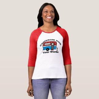 A camisa patriótica do reboque de campista
