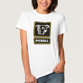 A camisa resistente do logotipo de Pitbull será T-shirts