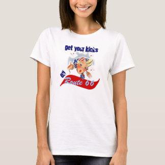 A camisa retro do divertimento do viagem da rota