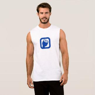 A camisa sem mangas dos homens do logotipo de