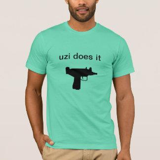 """A camisa """"Uzi dos homens fá-lo """""""