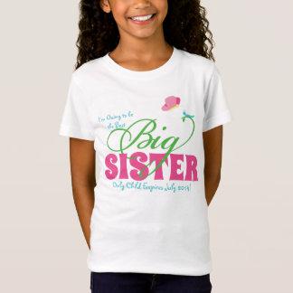 A camiseta das meninas personalizadas irmã mais