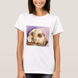 A camiseta das mulheres Dalmatian do cão