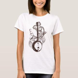 A camiseta das mulheres do t-shirt do banjo