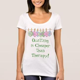 A camiseta de Quilter - Edredão-Citações do
