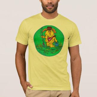 A camiseta dos homens - pesca ida cão