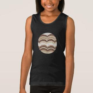 A camisola de alças das meninas bege do mosaico camisetas