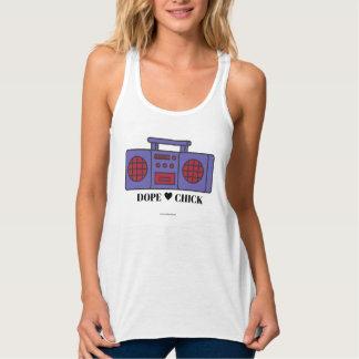 A camisola de alças das mulheres: Pintinho do Regata Racerback Flowy