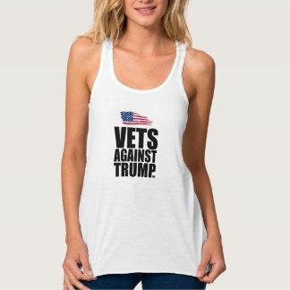 A camisola de alças das mulheres - veterinários regata racerback flowy