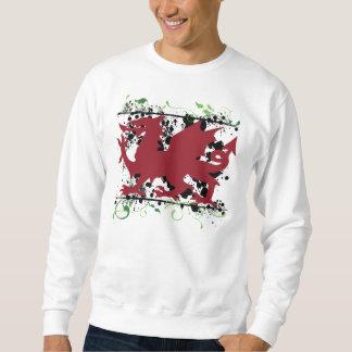 A camisola dos homens do dragão de Galês Moletom