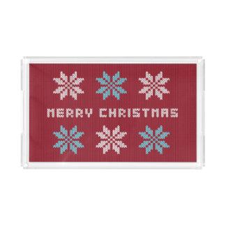 A camisola feita malha do Natal inspirou a bandeja