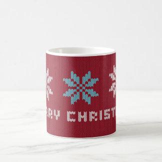 A camisola feita malha do Natal inspirou a caneca