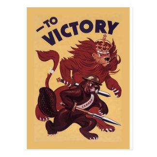 À campanha de propaganda 1942 da guerra do ~ de Ca Cartoes Postais