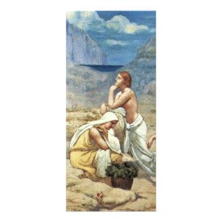 A canção do pastor por Puvis De Chavannes Torta 10.16 X 22.86cm Panfleto