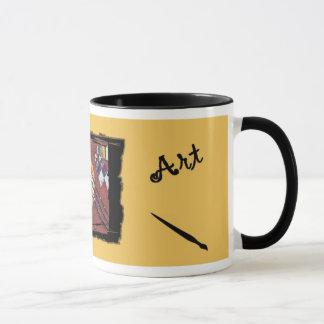 A caneca customizável do artista