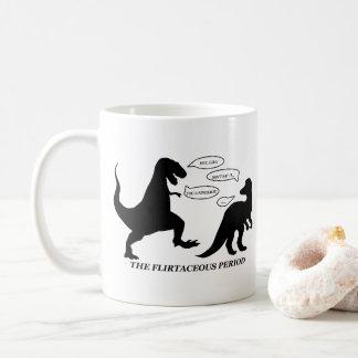 A caneca da chalaça do dinossauro do período de