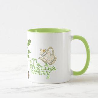A caneca das mamães do chá verde