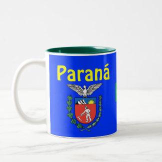 A caneca de café Caneca do *State de Brasil Paraná