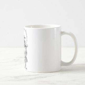 A caneca de café da lanterna da estrada de ferro