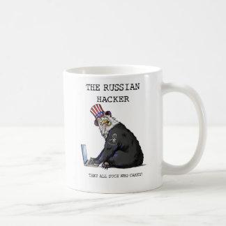 A caneca de café do cabouqueiro do russo