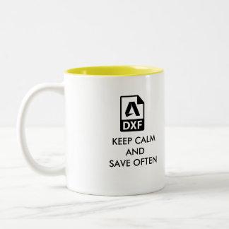 A caneca de café perfeita do desenhista de Autocad