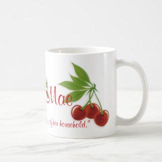 A caneca de café retro dos provérbio das cerejas