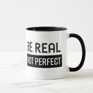 A caneca de café seja real não aperfeiçoa