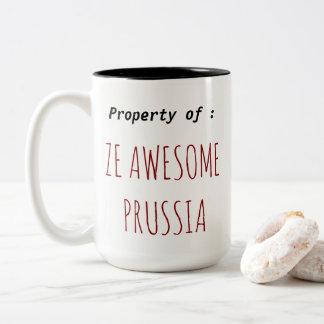 A caneca de Prússia de impressionante