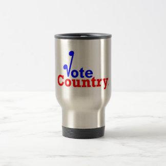 A caneca de viagem do país do voto