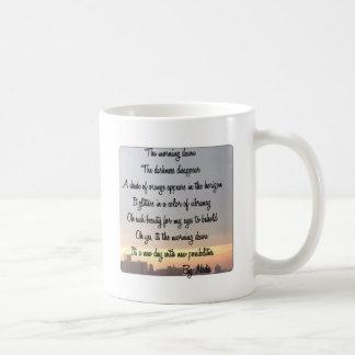 A caneca do alvorecer da manhã