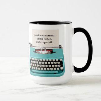 A caneca do escritor - café da bebida - compo o