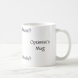 A caneca do optimista