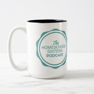 A caneca do Podcast das irmãs de Homeschool