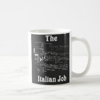A caneca italiana do mapa do trabalho