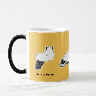 A caneca Morphing do gato, Amarelo-Time ao resto,