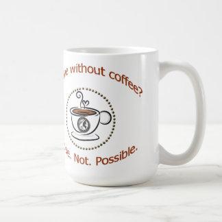 A caneca sobrevive sem café?
