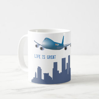 """A caneca """"vida do avião é grande """""""