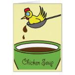 A canja de galinha obtem o cartão bom