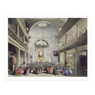 A capela católico romano, campos da pensão de cartão postal