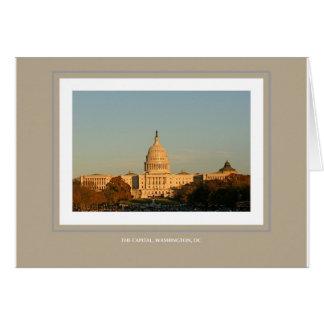 A capital, Washington, C.C. Cartão Comemorativo