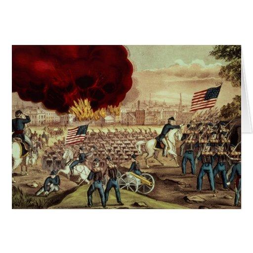 A captação de Atlanta pelo exército de união Cartao