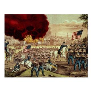 A captação de Atlanta pelo exército de união Cartão Postal